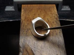 シルバーアクセサリーの作り方ワクス鋳造後5