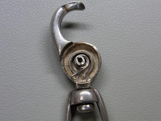ウォレットチェーン キーチェーンフック バネ折れ修理1