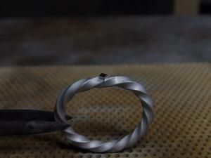 シルバーアクセサリーの作り方リングの製作方法彫金9